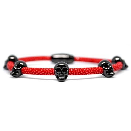 Bracelet | Multi Skull | Red/Black