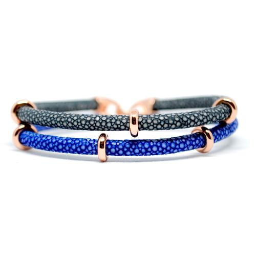 Bracelet | 2x Sting | Blue/Gray/Rose Gold