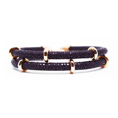 Bracelet | 2x Sting | Purple/Rose Gold