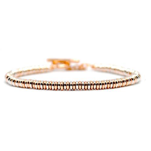 Bracelet   Single Beads   Rose/White Gold