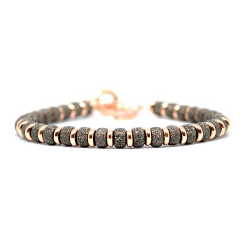 Bracelet | Multi Beads | Black/Rose Gold