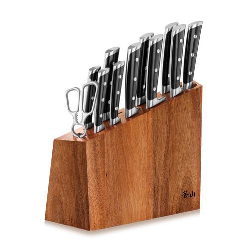 S Series | 12-Piece Set | White | Acacia Wood