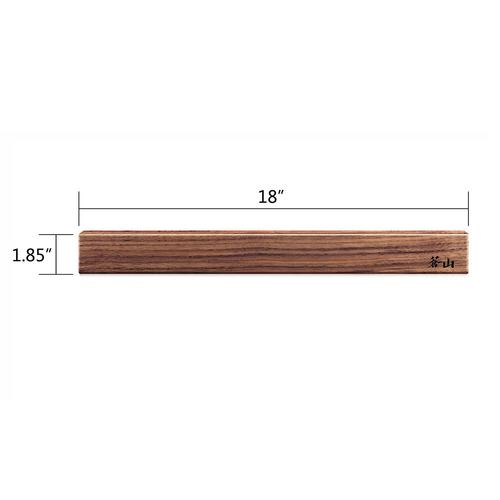 18-Inch Walnut Wood Magnetic Knife Bar | Cangshan