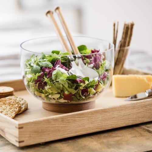 Salad Utensils | Set of 2 | Oak Handles