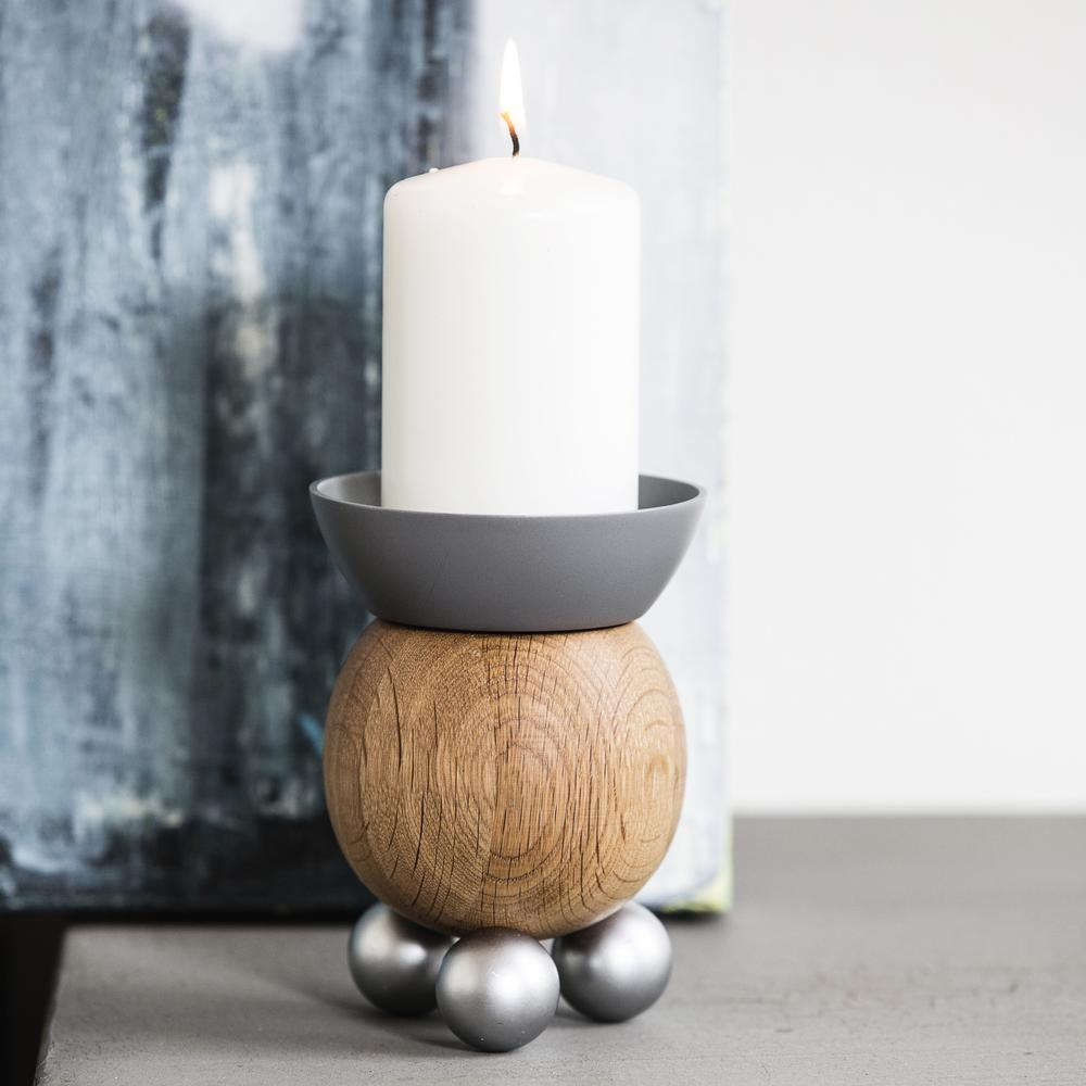 Scandinavian Candle Holder | Steel & Wood | Sagaform