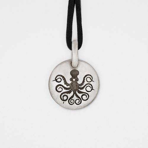 Octopus Charm Pendant | Sterling Silver