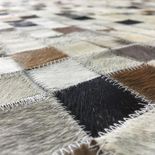 Leather Brown Ivory Rug II