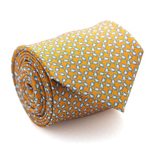 Necktie | Orange with Blue and White Sunglasses Pattern