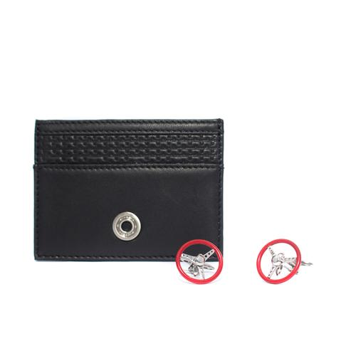 Card Holder / Cufflinks Set | Nardi Torino Red