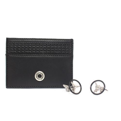 Card Holder / Cufflinks Set   Nardi Torino Black