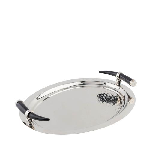 Stainless Steel | Oval Tray with Horn Inspired Handles