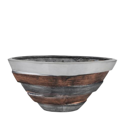 Tri-Tone Striped Triangular Vase