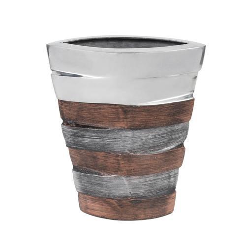 Tri-Tone Striped Bell Crader Vase