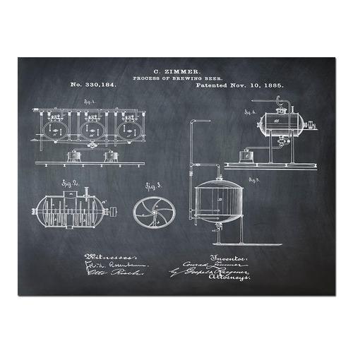 Brewing Process-1885 Chalk   Paper