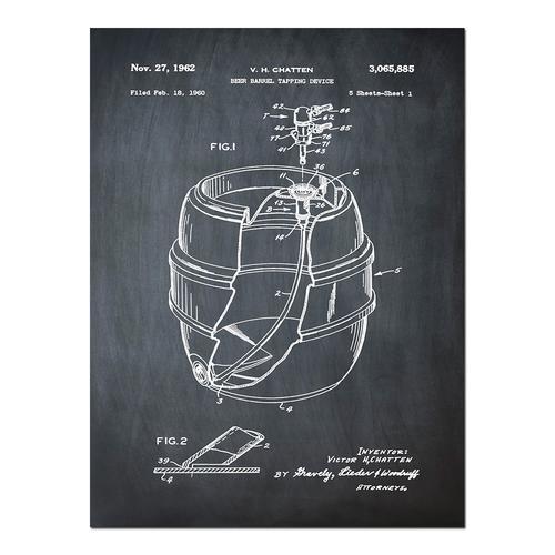 EZ Tap Keg-Chalk   Paper