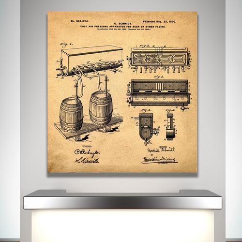 Schmidts Tap-1900 Sepia/Antique   Canvas