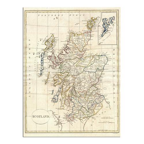 Map of Scotland | Paper