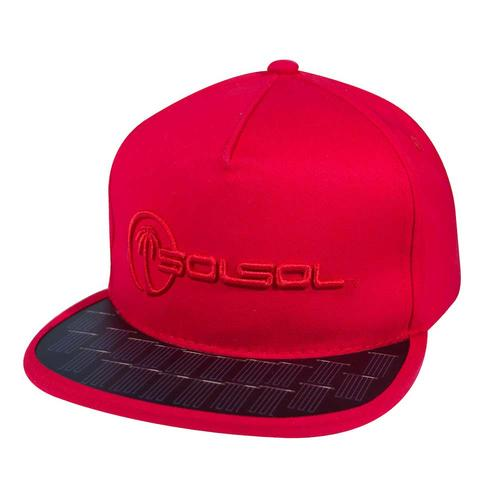 The Solar Charger Hat   Red