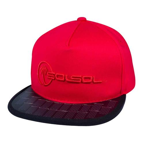 The Solar Charger Hat   Red & Black