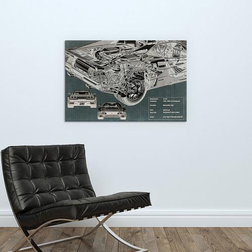 Rear Engine X-Ray Blueprint
