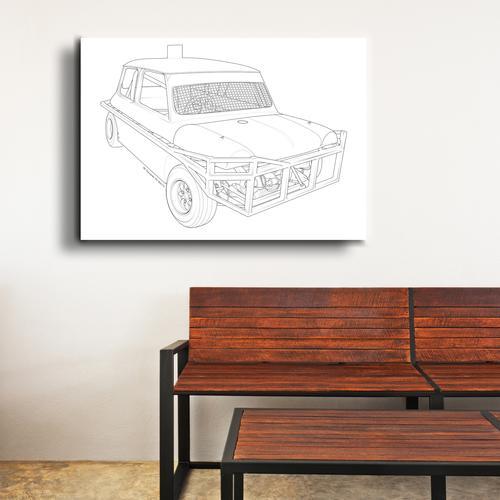 Stock car  II   Canvas