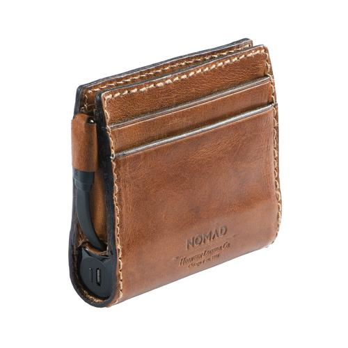 Horween leather charging wallet slim nomad for Yamaha leather wallet