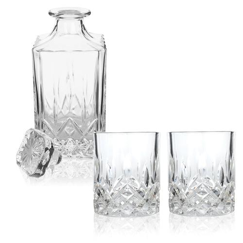 Liquor Decanter & Crystal Tumblers