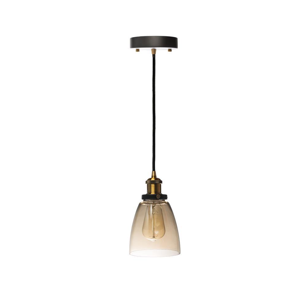 Single Cognac Pendant Light