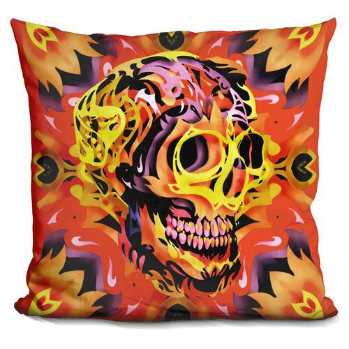 'Skull 5' Throw Pillow