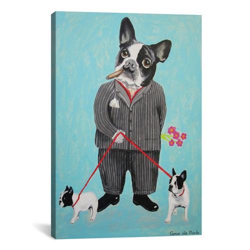 Bulldog Dog Walker
