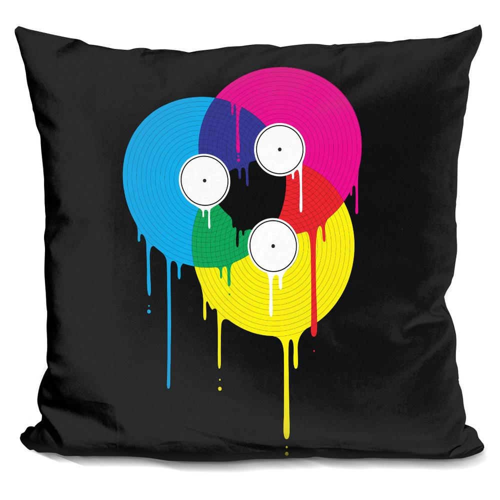 Davies Babies Melting Vinyl Throw Pillow