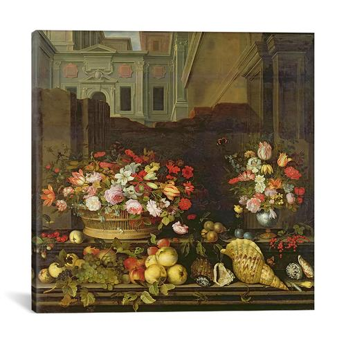 Still Life with Flowers, Fruits and Shells