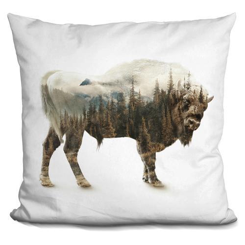 Riza Peker 'Bison' Throw Pillow