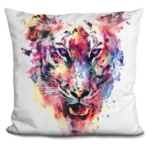Riza Peker 'Eye Of The Tiger' Throw Pillow