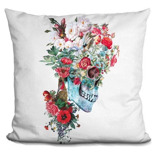 Riza Peker 'Momento Mori RPE' Throw Pillow