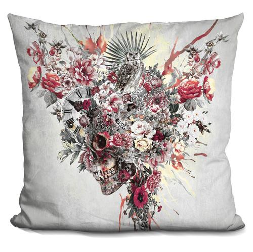 Riza Peker 'SKULL XIV' Throw Pillow