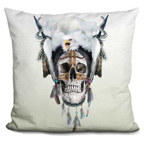 Riza Peker 'Wild spirit III' Throw Pillow