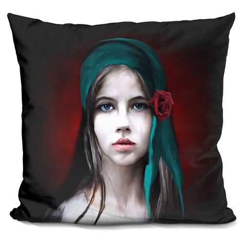 Riza Peker 'Women Potrait2' Throw Pillow