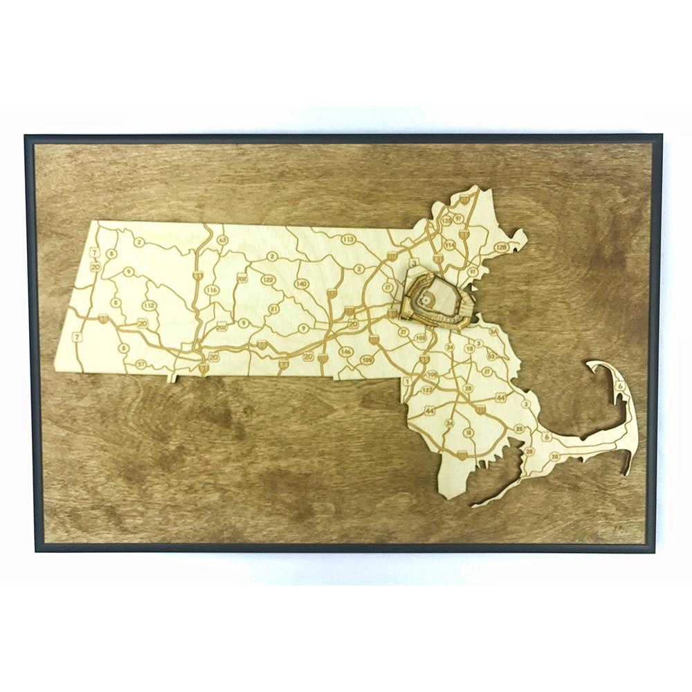 Stadium Maps | Massachusetts, Boston (Fenway Park)