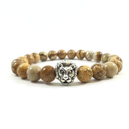 Desert Jasper | Silver Lion