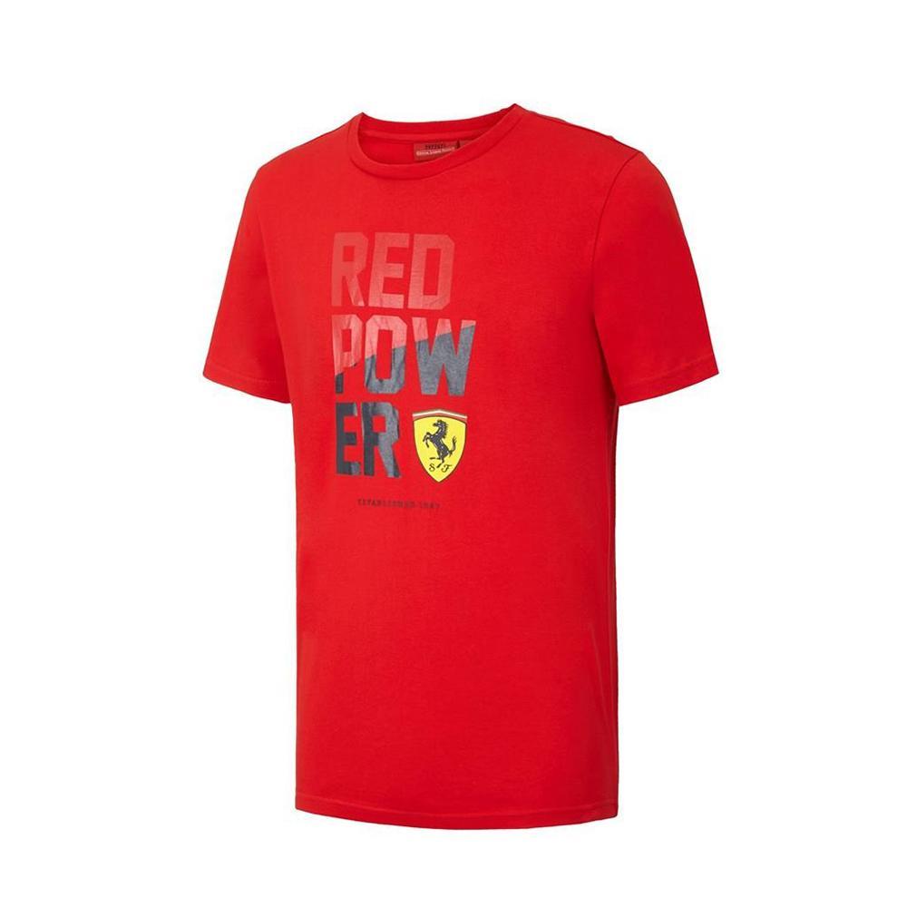 Scuderia Ferrari Red Power Graphic T-Shirt Mens | Motorstore