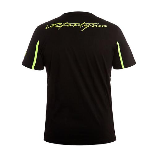VALENTIO ROSSI BLACK T-SHIRT MENS | Moto GP Apparel