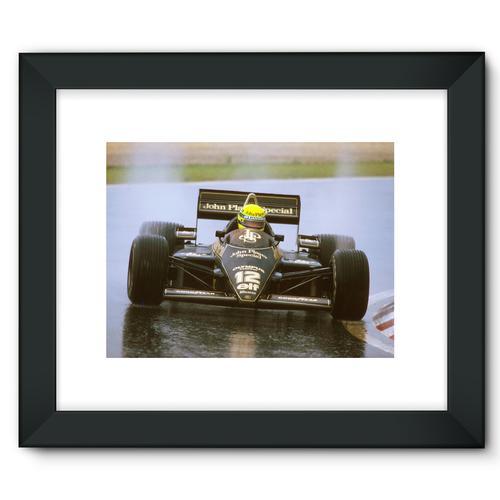 Ayrton Senna, Lotus 97T Renault, 1st position   Black